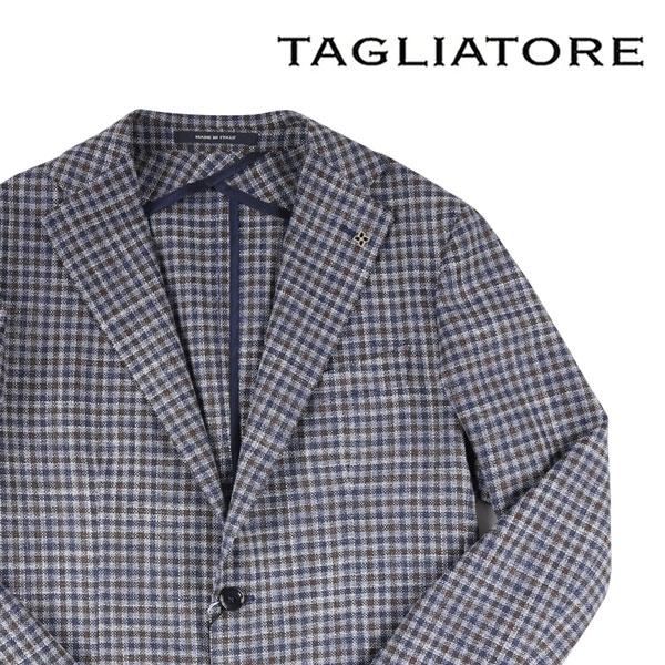 【44】 TAGLIATORE タリアトーレ ジャケット 1SMC22K メンズ シルク混 チェック ネイビー 紺 並行輸入品 メンズファッション 男性用 ビジネス アウター トップス 日本未入荷 ラッピング無料 送料無料