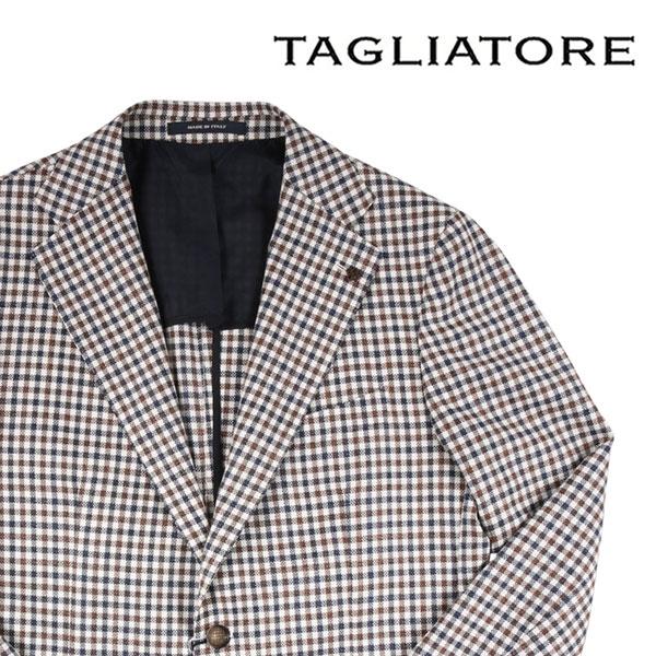【50】 TAGLIATORE タリアトーレ ジャケット 1SVS22K メンズ シルク混 チェック ブラウン 茶 並行輸入品 メンズファッション 男性用 ビジネス アウター トップス 日本未入荷 ラッピング無料 送料無料