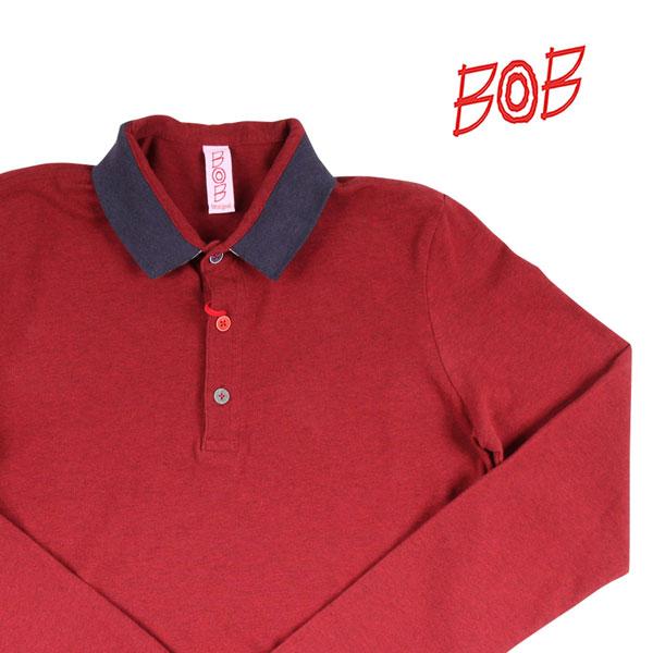 【M】 BOB ボブ 長袖ポロシャツ UNICA メンズ レッド 赤 並行輸入品 メンズファッション 男性用 ビジネス トップス 日本未入荷 ラッピング無料 送料無料