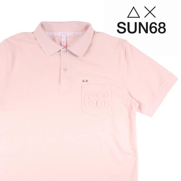 【L】 SUN68 サンシックスティーエイト 半袖ポロシャツ メンズ 春夏 ピンク 並行輸入品 メンズファッション 男性用 ビジネス トップス 日本未入荷 ラッピング無料 送料無料