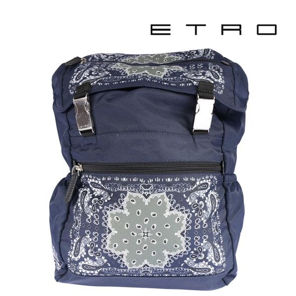 ETRO エトロ リュック メンズ ペイズリー ネイビー 紺 並行輸入品 メンズファッション 男性用 ビジネス 日本未入荷 ラッピング無料 送料無料