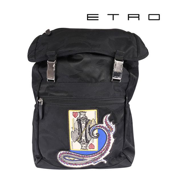 ETRO エトロ リュック メンズ ブラック 黒 並行輸入品 メンズファッション 男性用 ビジネス 日本未入荷 ラッピング無料 送料無料