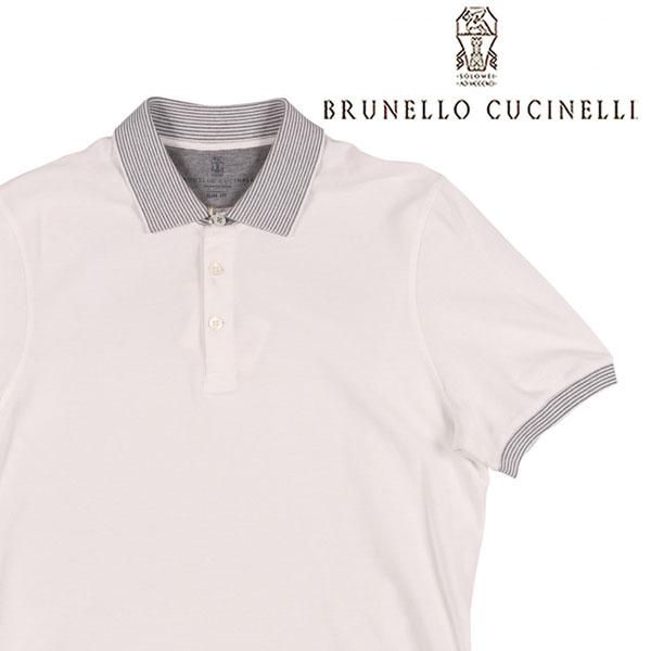 【XS】 BRUNELLO CUCINELLI ブルネロクチネリ 半袖ポロシャツ CC770 メンズ 春夏 ホワイト 白 並行輸入品 メンズファッション 男性用 ビジネス トップス 日本未入荷 ラッピング無料 送料無料