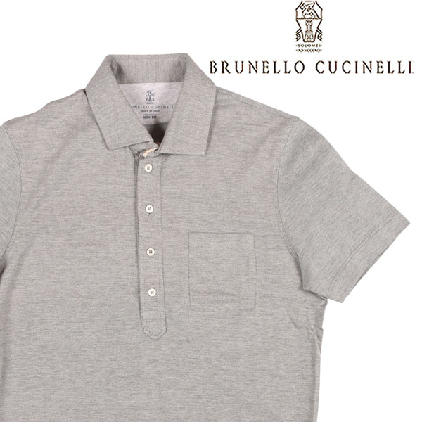 【XS】 BRUNELLO CUCINELLI ブルネロクチネリ 半袖ポロシャツ MTS413946 メンズ 春夏 グレー 灰色 並行輸入品 メンズファッション 男性用 ビジネス トップス 日本未入荷 ラッピング無料 送料無料