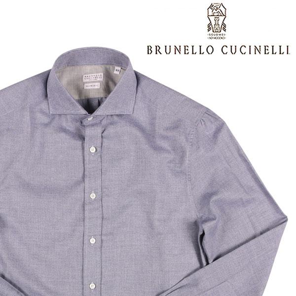 【XS】 BRUNELLO CUCINELLI ブルネロクチネリ 長袖シャツ ML6841718 メンズ ブルー 青 並行輸入品 メンズファッション 男性用 ビジネス カジュアルシャツ 日本未入荷 ラッピング無料 送料無料