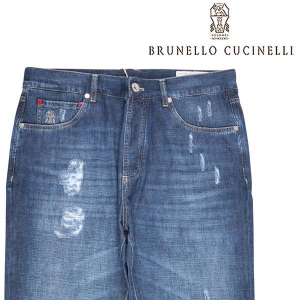 【50】 BRUNELLO CUCINELLI ブルネロクチネリ ジーンズ ME645X1300 メンズ ブルー 青 並行輸入品 メンズファッション 男性用 ビジネス デニム 日本未入荷 ラッピング無料 送料無料