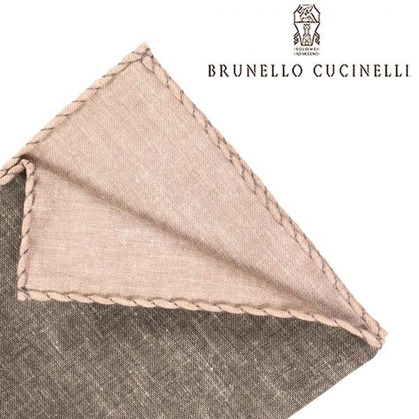 BRUNELLO CUCINELLI ブルネロクチネリ ポケットチーフ MD8810091 メンズ シルク混 カーキ 並行輸入品 メンズファッション 男性用 ビジネス 日本未入荷 ラッピング無料 送料無料