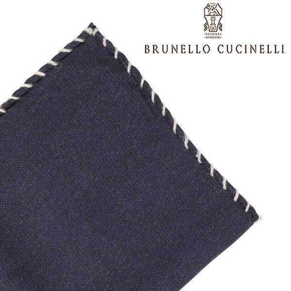 BRUNELLO CUCINELLI ブルネロクチネリ ポケットチーフ MG8540091 メンズ ネイビー 紺 並行輸入品 メンズファッション 男性用 ビジネス 日本未入荷 ラッピング無料 送料無料