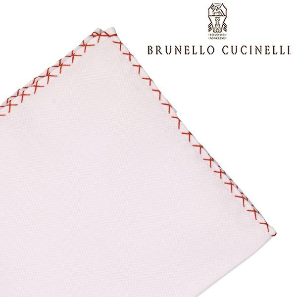 BRUNELLO CUCINELLI ブルネロクチネリ ポケットチーフ MD8030091 メンズ ホワイト 白 並行輸入品 メンズファッション 男性用 ビジネス 日本未入荷 ラッピング無料 送料無料