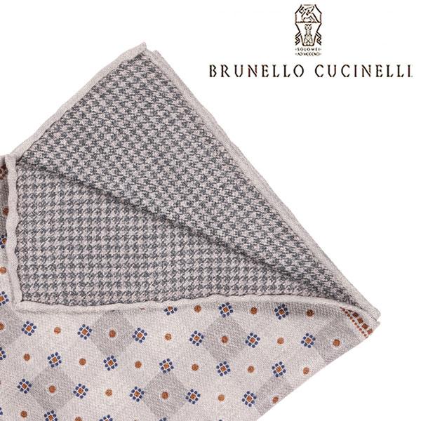 BRUNELLO CUCINELLI ブルネロクチネリ ポケットチーフ MG8770091 メンズ シルク100% グレー 灰色 並行輸入品 メンズファッション 男性用 ビジネス 日本未入荷 ラッピング無料 送料無料