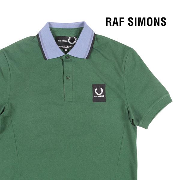 【38】 RAF SIMONS ラフ・シモンズ 半袖ポロシャツ メンズ 春夏 グリーン 緑 並行輸入品 メンズファッション 男性用 ビジネス トップス 日本未入荷 ラッピング無料 送料無料