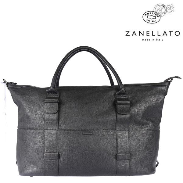 ZANELLATO ザネラート ボストンバッグ メンズ ブラック 黒 レザー 並行輸入品 メンズファッション 男性用 ビジネス 日本未入荷 ラッピング無料 送料無料