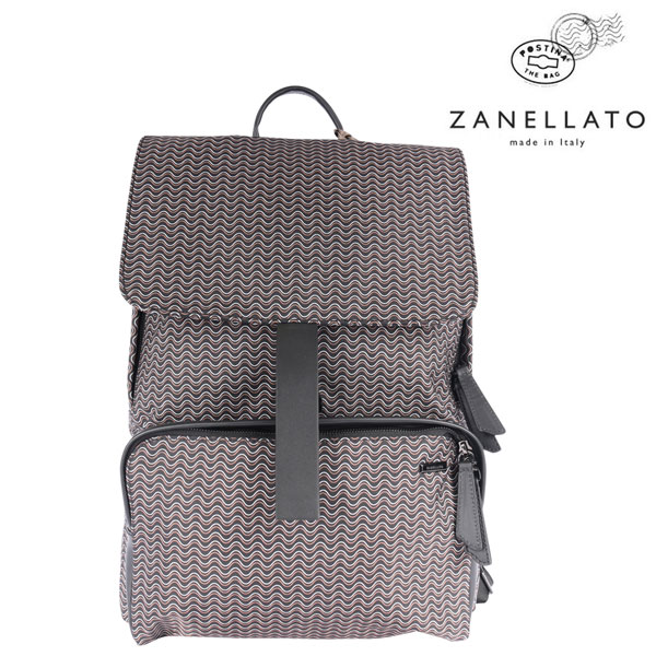 ZANELLATO ザネラート リュック メンズ ブラック 黒 並行輸入品 メンズファッション 男性用 ビジネス 日本未入荷 ラッピング無料 送料無料