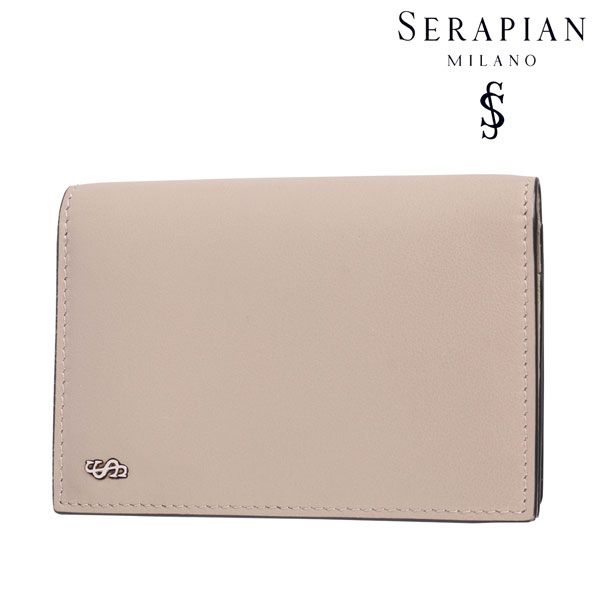 SERAPIAN セラピアン カードケース メンズ レザー ベージュ レザー 並行輸入品 メンズファッション 男性用 ビジネス 日本未入荷 ラッピング無料 送料無料