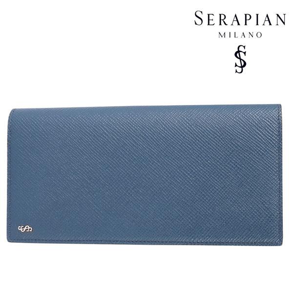 SERAPIAN セラピアン 財布 メンズ レザー ネイビー 紺 レザー 並行輸入品 メンズファッション 男性用 ビジネス 日本未入荷 ラッピング無料 送料無料