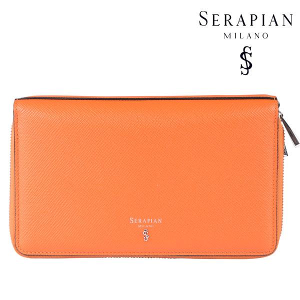 SERAPIAN セラピアン 財布 メンズ レザー オレンジ レザー 並行輸入品 メンズファッション 男性用 ビジネス 日本未入荷 ラッピング無料 送料無料