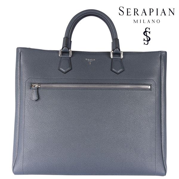 SERAPIAN セラピアン トートバッグ メンズ レザー グレー 灰色 レザー 並行輸入品 メンズファッション 男性用 ビジネス 日本未入荷 ラッピング無料 送料無料