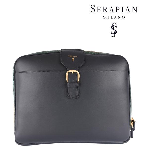 SERAPIAN セラピアン クラッチバッグ メンズ クロコダイル ブラック 黒 レザー 並行輸入品 メンズファッション 男性用 ビジネス 日本未入荷 ラッピング無料 送料無料