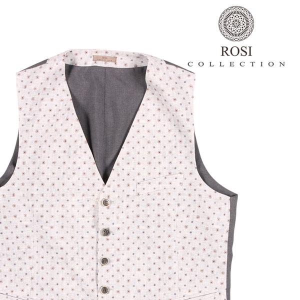 【54】 ROSI COLLECTION ロージコレクション ジレ メンズ 春夏 ホワイト 白 並行輸入品 メンズファッション 男性用 ビジネス ベスト 大きいサイズ 日本未入荷 ラッピング無料 送料無料