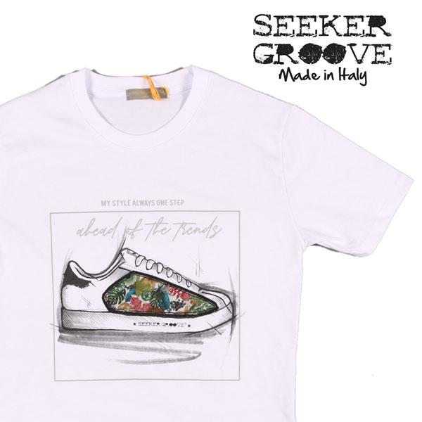 【XXL】 SEEKER GROOVE シーカーグルーブ Uネック半袖Tシャツ メンズ 春夏 ホワイト 白 並行輸入品 メンズファッション 男性用 ビジネス トップス 大きいサイズ 日本未入荷 ラッピング無料 送料無料