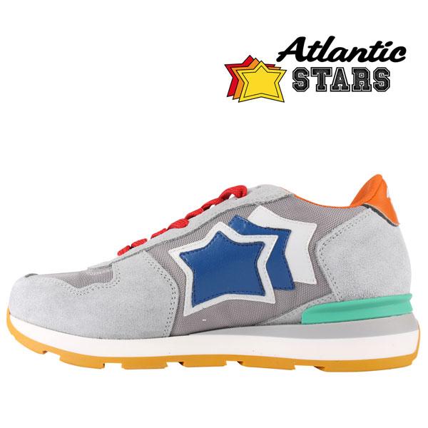 日本未入荷 Atlantic Stars グレー メンズ 灰色 アトランティックスターズ ANTARES 星柄 レザー スニーカー ラッピング無料 男性用 メンズファッション ビジネス 【40】 ASA-50T 並行輸入品 送料無料