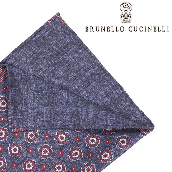 BRUNELLO CUCINELLI ブルネロクチネリ ポケットチーフ CG530 メンズ ネイビー 紺 並行輸入品 メンズファッション 男性用 ビジネス 日本未入荷 ラッピング無料 送料無料