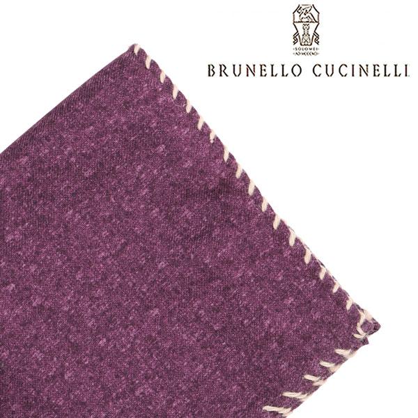 BRUNELLO CUCINELLI ブルネロクチネリ ポケットチーフ CM735 メンズ パープル 紫 並行輸入品 メンズファッション 男性用 ビジネス 日本未入荷 ラッピング無料 送料無料