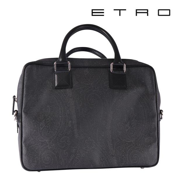 ETRO エトロ ブリーフケース メンズ ブラック 黒 並行輸入品 メンズファッション 男性用 ビジネス 日本未入荷 ラッピング無料 送料無料