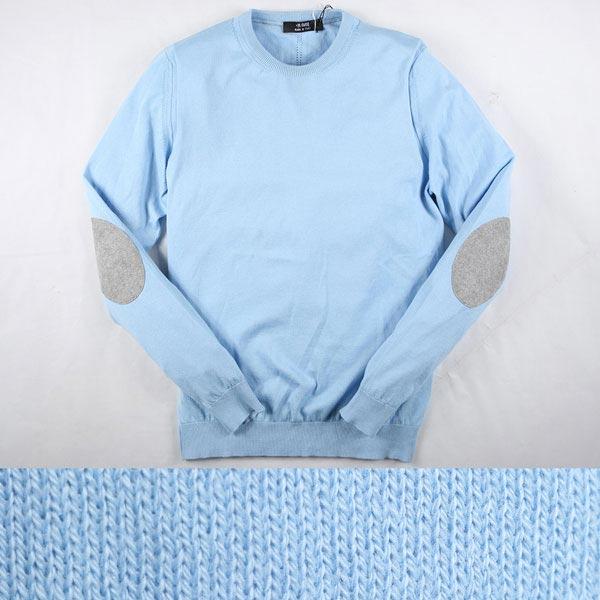 +39 masq 丸首セーター MA0012 light blue L 11862【S11865】 マスク