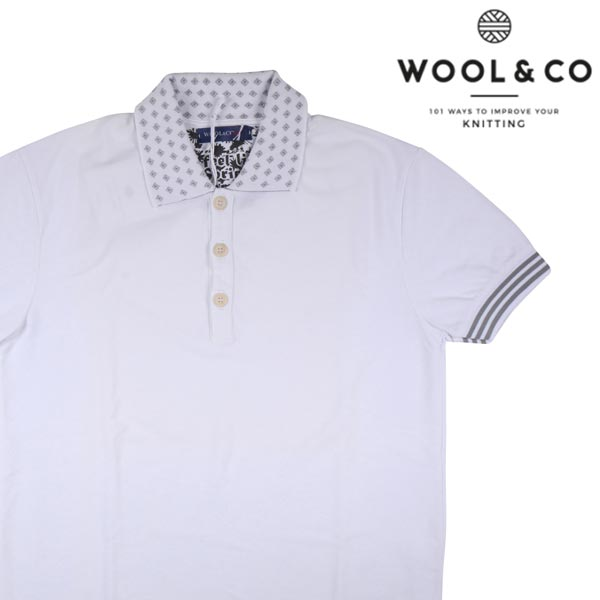 WOOL&CO 半袖ポロシャツ WO6260 white S 12090WH【S12090】 ウールアンドコー