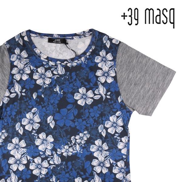 【S】 +39 masq マスク Uネック半袖Tシャツ メンズ 春夏 花柄 並行輸入品 メンズファッション 男性用 ビジネス トップス 日本未入荷 ラッピング無料 送料無料