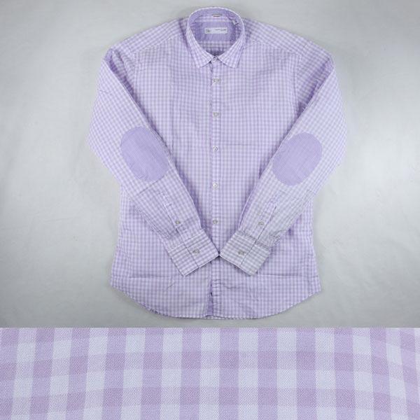 【M】 POGGIANTI 1958 ポジャンティ 1958 長袖シャツ メンズ チェック パープル 紫 並行輸入品 メンズファッション 男性用 ビジネス カジュアルシャツ 日本未入荷 ラッピング無料 送料無料