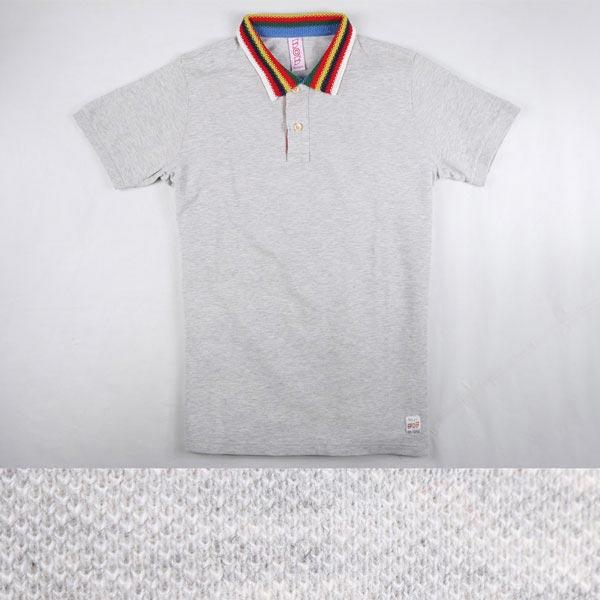 BOB 半袖ポロシャツ CAPITAN light gray XS 12270【S12270】 ボブ