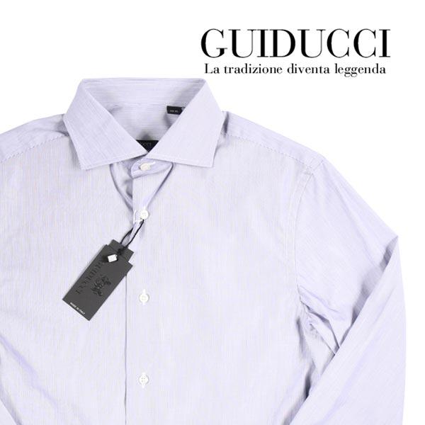 【45】 GUIDUCCI グイドゥッチ 長袖シャツ メンズ ストライプ グレー 灰色 並行輸入品 メンズファッション 男性用 ビジネス ビジネスシャツ 日本未入荷 ラッピング無料 送料無料