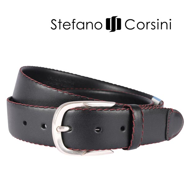 【100】 Stefano Corsini ステファノ・コルシーニ ベルト メンズ ブラック 黒 並行輸入品 メンズファッション 男性用 ビジネス 日本未入荷 ラッピング無料 送料無料