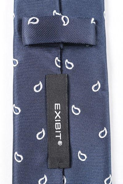 送料無料 メンズ メンズファッション ネイビー 男性用 ペイズリー ラッピング無料 EXIBIT 日本未入荷 ビジネス 並行輸入品 ネクタイ エグジビット 紺