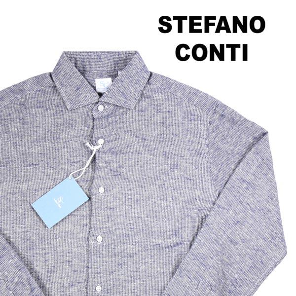 【38】 stefano conti ステファノ・コンティ 長袖シャツ メンズ ネイビー 紺 並行輸入品 メンズファッション 男性用 ビジネス カジュアルシャツ 日本未入荷 ラッピング無料 送料無料