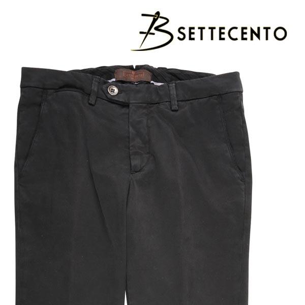 【29】 B SETTECENTO ビーセッテチェント コットンパンツ メンズ ブラック 黒 並行輸入品 メンズファッション 男性用 ビジネス ズボン 日本未入荷 ラッピング無料 送料無料