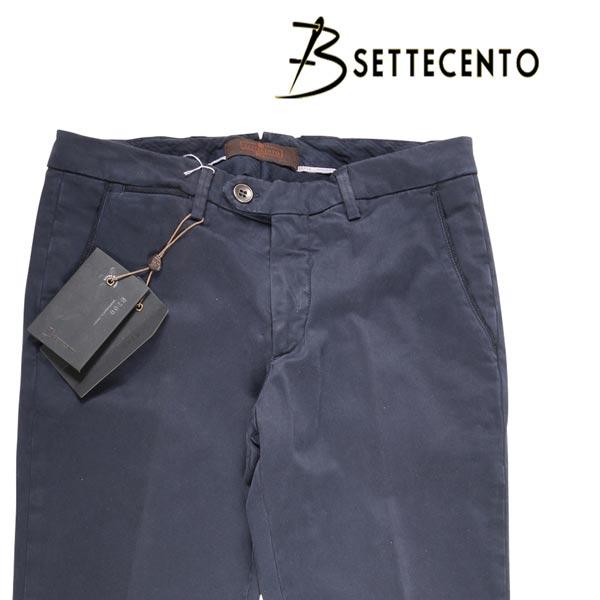 【30】 B SETTECENTO ビーセッテチェント コットンパンツ メンズ ネイビー 紺 並行輸入品 メンズファッション 男性用 ビジネス ズボン 日本未入荷 ラッピング無料 送料無料