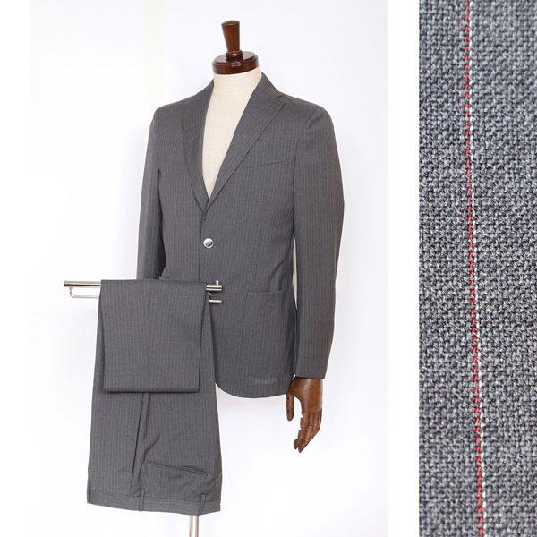 送料無料 【44】 BOGLIOLI ボリオリ スーツ T29W2E メンズ 春夏 ヴァージンウール100% ストライプ グレー 灰色 並行輸入品 メンズファッション 男性用 ビジネス 日本未入荷 ラッピング無料 送料無料