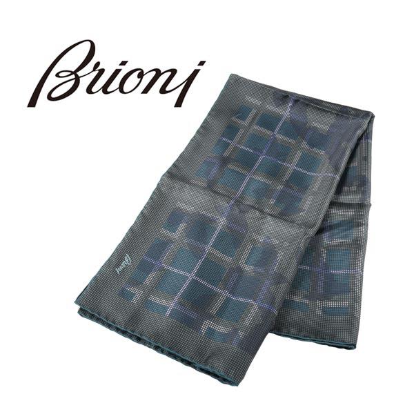 Brioni ブリオーニ ストール メンズ シルク100% グリーン 緑 並行輸入品 メンズファッション 男性用 ビジネス 日本未入荷 ラッピング無料 送料無料
