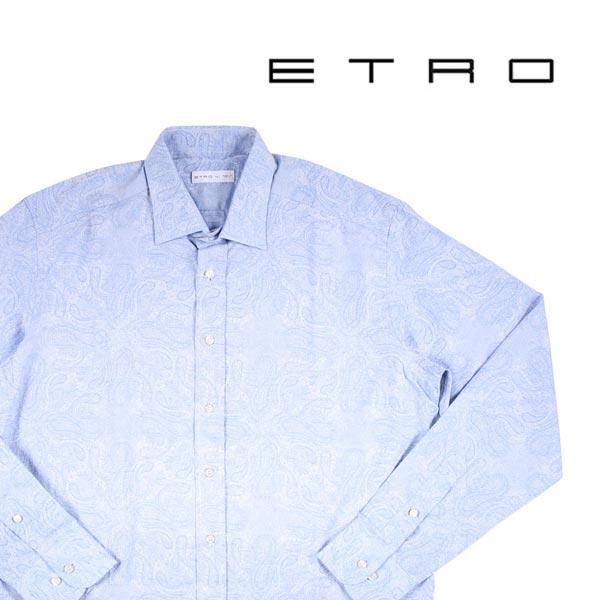 ETRO ペイズリー 長袖シャツ light blue 41 14395【A14397】 エトロ