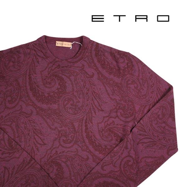 【XS】 ETRO エトロ 丸首セーター メンズ 秋冬 ペイズリー レッド 赤 並行輸入品 メンズファッション 男性用 ビジネス ニット 日本未入荷 ラッピング無料 送料無料