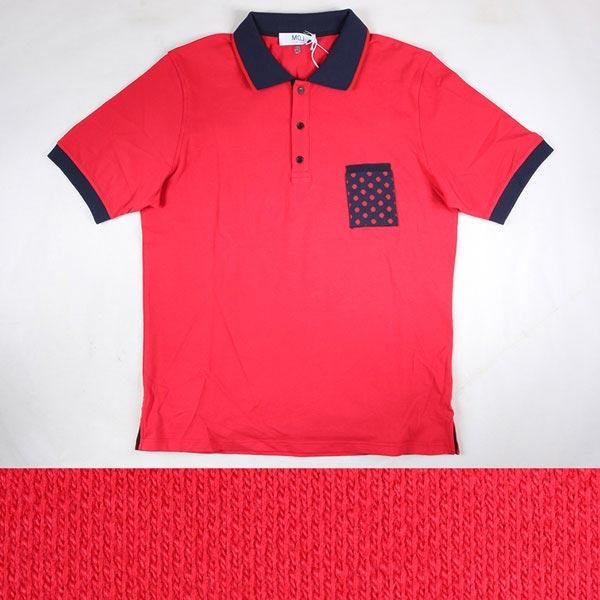 MQJ 半袖ポロシャツ P17-MQT19039 red XXXL 14517【S14519】 エムキュージェイ