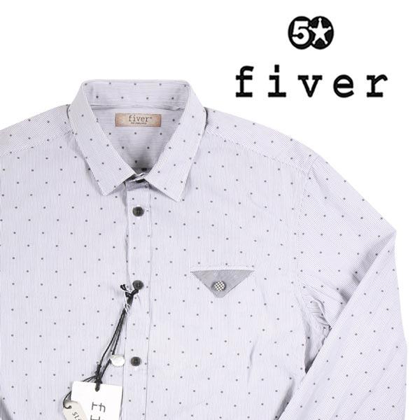 fiver ドット 長袖シャツ C30313A6 gray S 14525【A14525】 ファイバー
