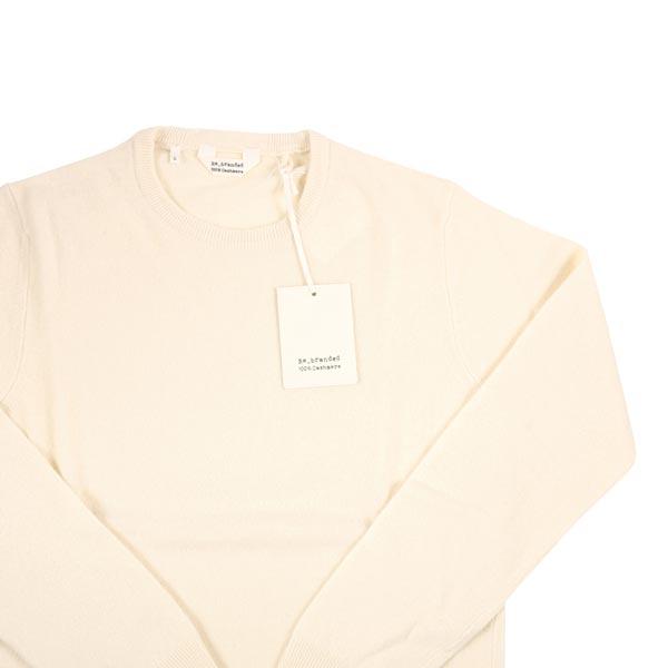 Re_branded カシミヤ100% 丸首セーター RB01 white L【W14551】 リブランディッド