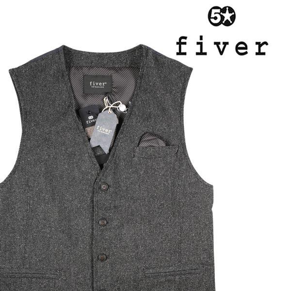 【M】 fiver ファイバー ジレ メンズ ブラック 黒 並行輸入品 メンズファッション 男性用 ビジネス ベスト 日本未入荷 ラッピング無料 送料無料