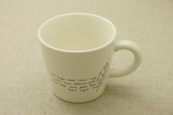 ミルクティーやカフェオレ たっぷり かわいい リーフ 大きい マグカップ 食器 日本製 美濃焼 カフェ風 おしゃれ 可愛い 大きめ