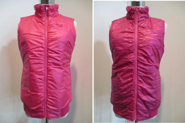 激安 新品 プーマ PUMA 送料込 中綿リバーシブルベスト903769-02 M 1313 定番キャンバス ピンク