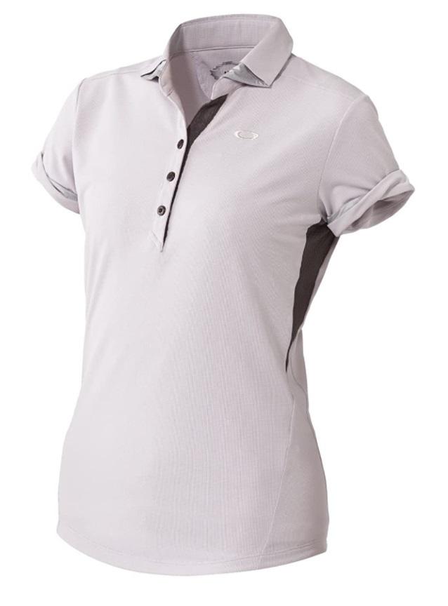 即納 送料無料 オークリー OAKLEY レディース 半袖 1613 ポロシャツ532092JP 購買 白 ゴルフウェア 2020 新作 Lサイズ紫 ゴルフ